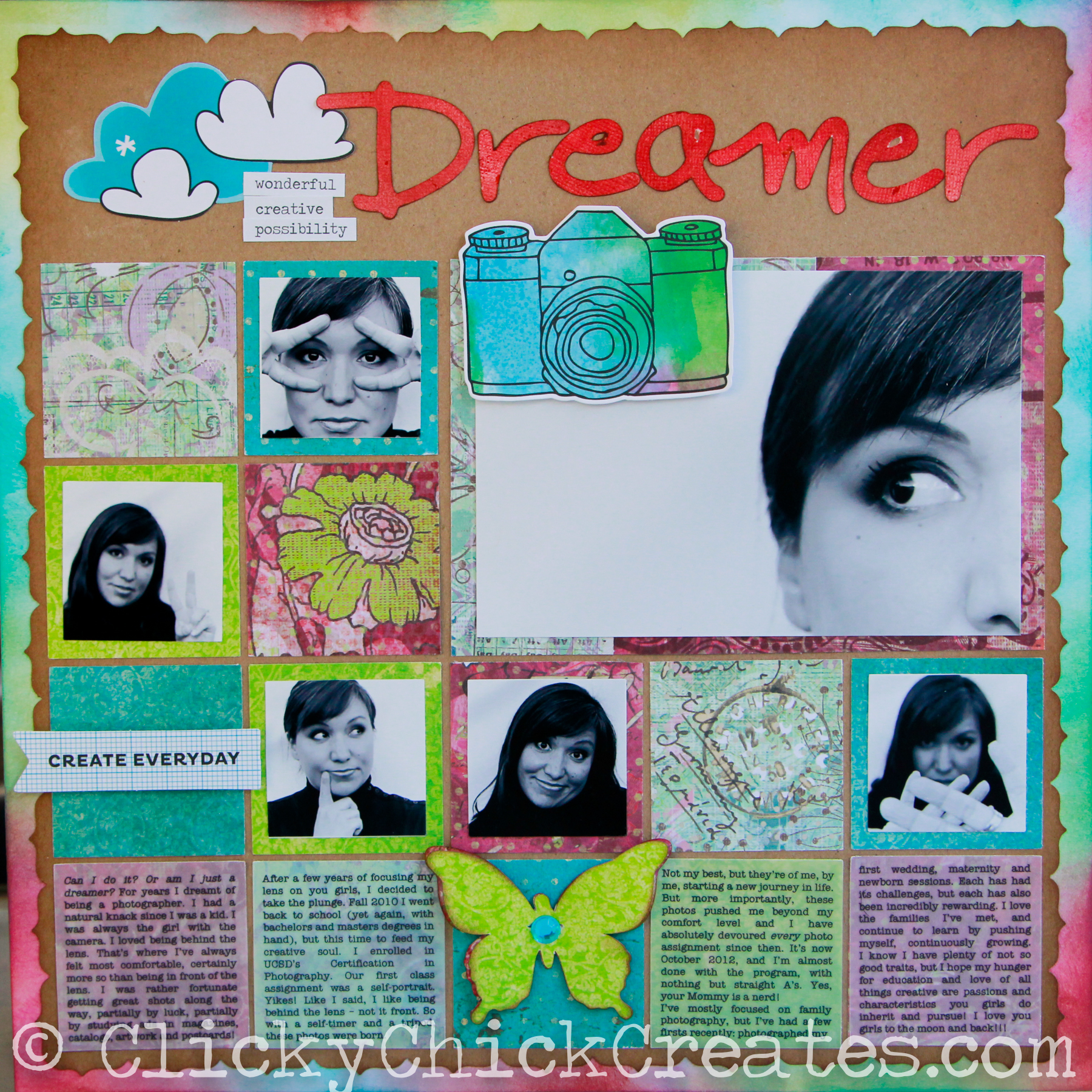 Scrapbook ideas list -  Look Back On Something You Accomplished And Wonder Why The Heck Doesn T Everyone Do This At Least Once In Their Life That S How I Feel About Layout A