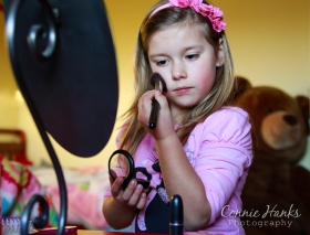 "Connie Hanks Photography // ClickyChickCreates.com // ""wanna play beauty salon?"""