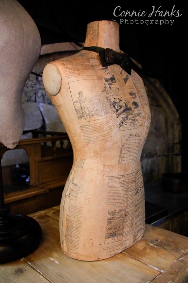 Connie Hanks Photography // ClickyChickCreates.com // Paris Flea Market - vintage fashion seamstress bodice