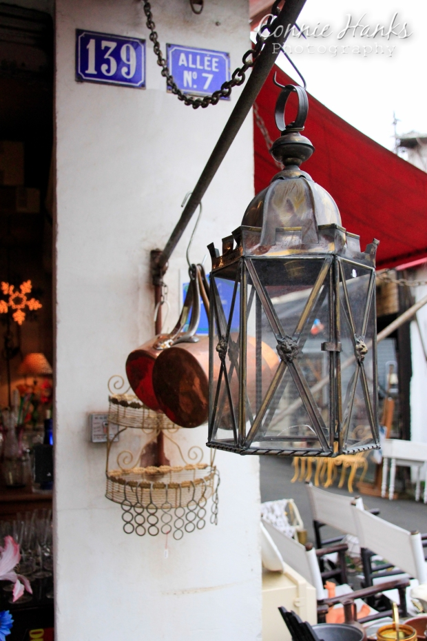 Connie Hanks Photography // ClickyChickCreates.com // Paris Flea Market - lanterns and pots