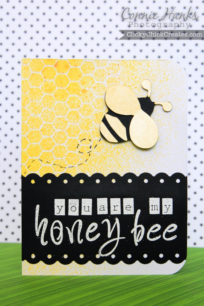 ClickyChickCreates.com // you are my honey bee card for Play Date Cafe and Sweet Stamp Shop