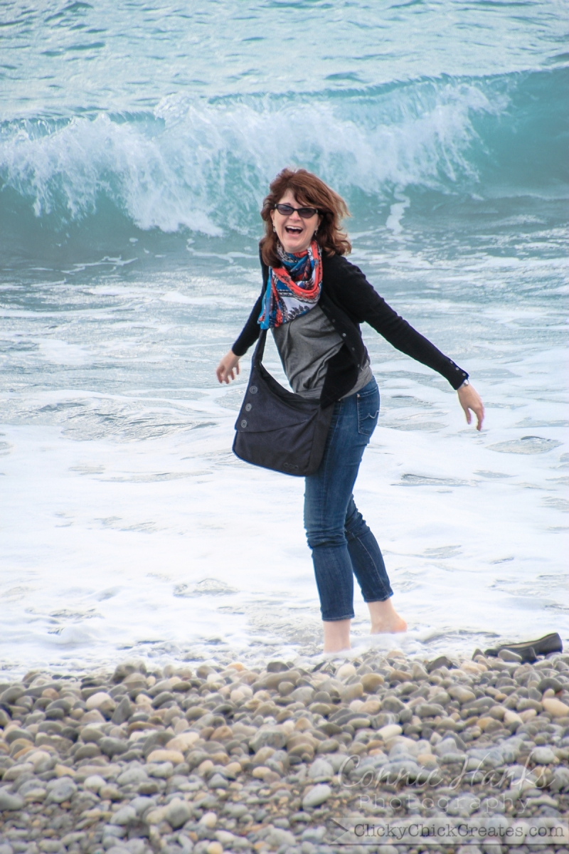 Connie Hanks Photography // ClickyChickCreates.com // carefree in the south of France - dipping toes in Mediterranean for the first time, Cote d'Azur