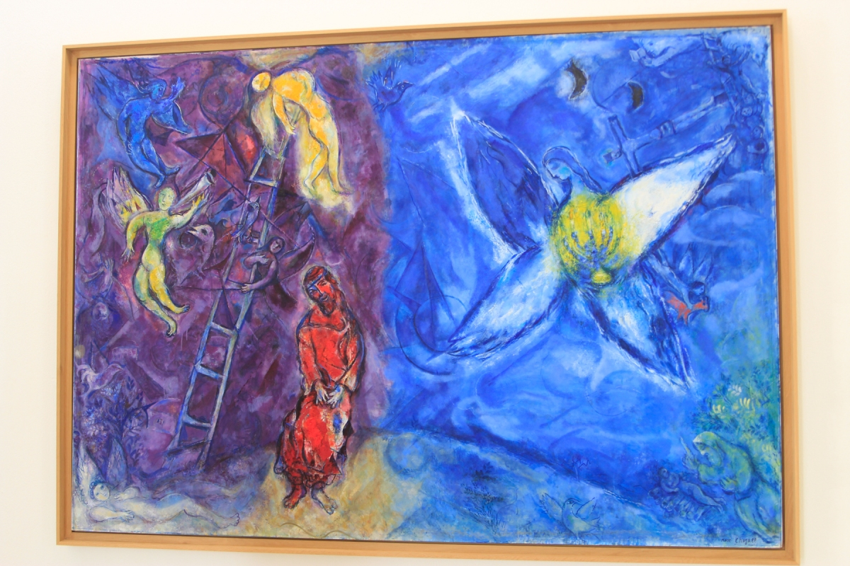 "Connie Hanks Photography // ClickyChickCreates.com // Chagall's ""Jacob's Dream"" in Nice, France"