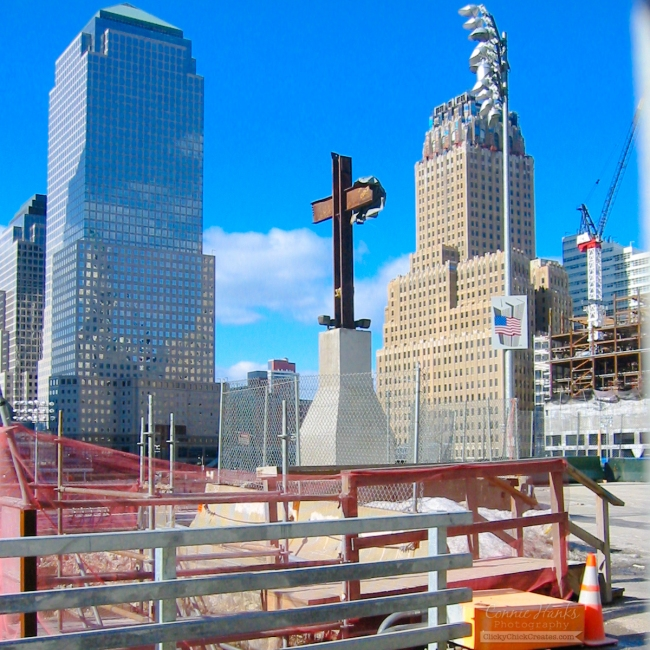 Connie Hanks Photography // ClickyChickCreates.com // World Trade Center cross, 2004