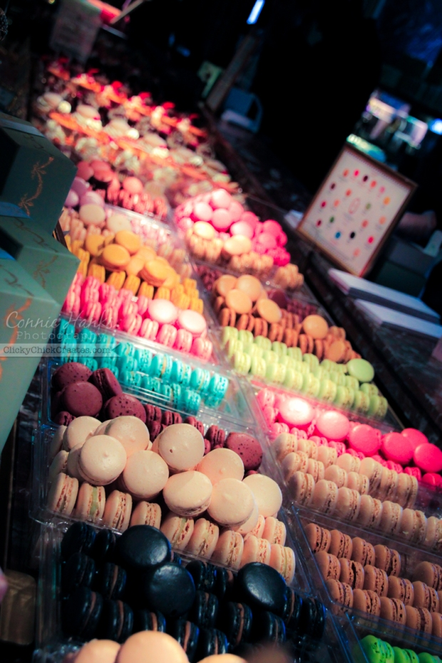 Connie Hanks Photography // ClickyChickCreates.com // Inside the walls of Laduree in Paris, France, macarons, desserts and decor