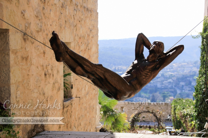 Connie Hanks Photography // ClickyChickCreates.com // sculpture in Saint Paul-de-Vence, Provence, France