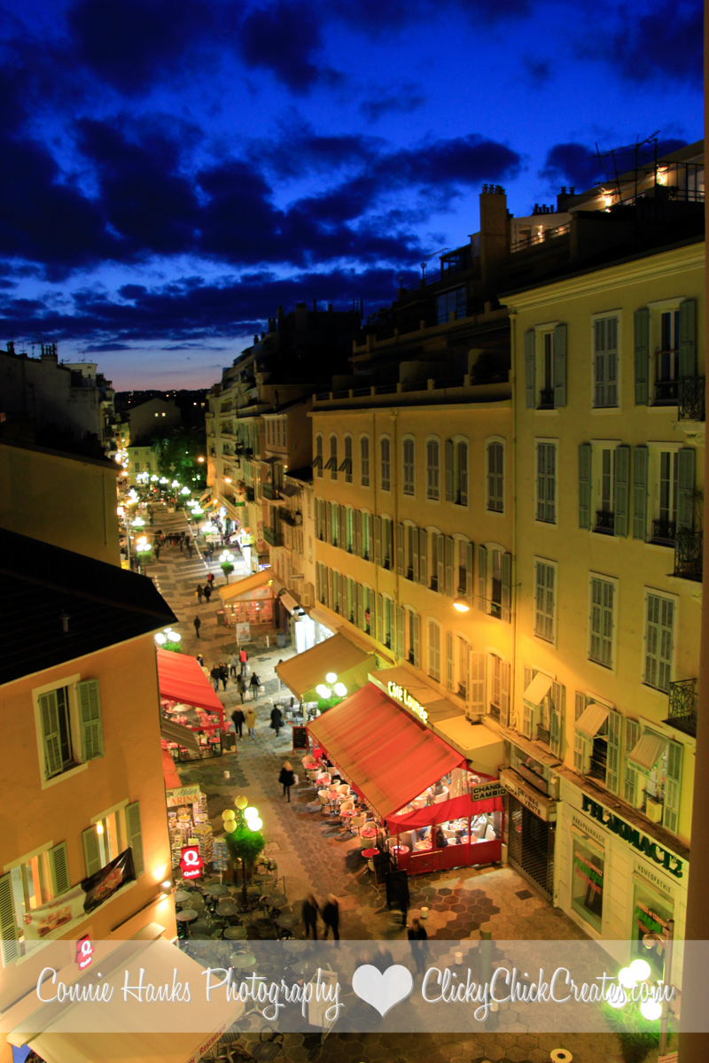 Connie Hanks Photography // ClickyChickCreates.com // Room with a View! Our view from our hotel in Nice, France