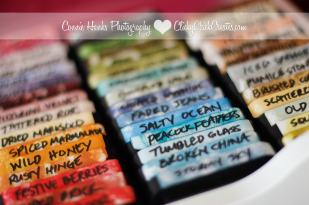 Connie Hanks Photography // ClickyChickCreates.com // how I organize and store my collection of Tim Holtz Distress Inks
