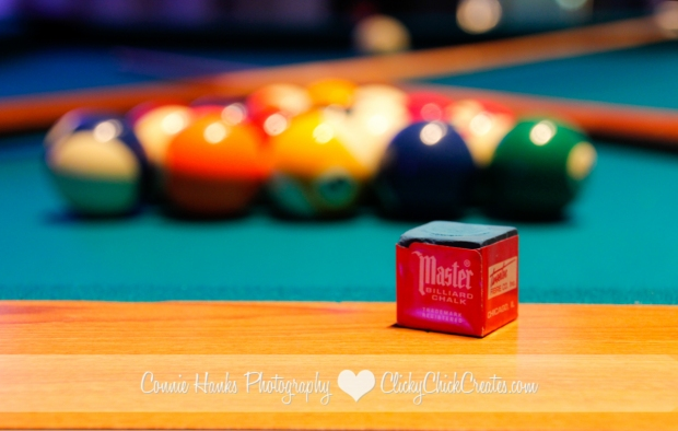 Connie Hanks Photography // ClickyChickCreates.com // Rack 'em! Billiards as Art