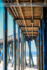 Connie Hanks Photography // ClickyChickCreates.com // Rosarito Beach Hotel pier, Baja California, Mexico, rust, old, blue