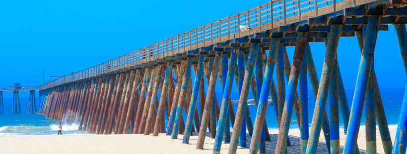 Connie Hanks Photography // ClickyChickCreates // Rosarito Beach Hotel pier, rusted, pacific ocean