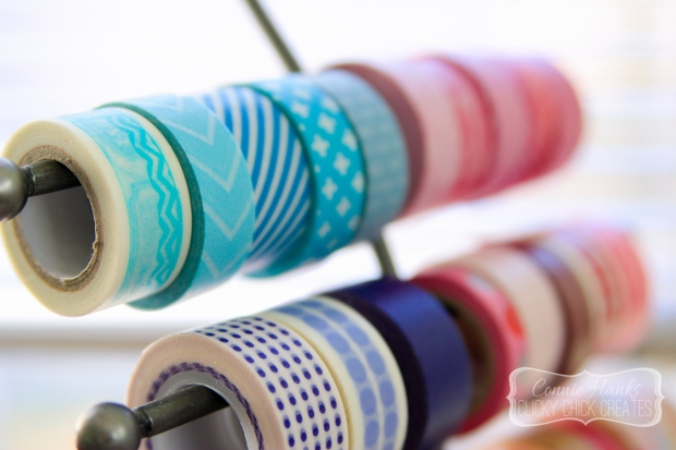 Connie Hanks // ClickyChickCreates.com // washi tape love