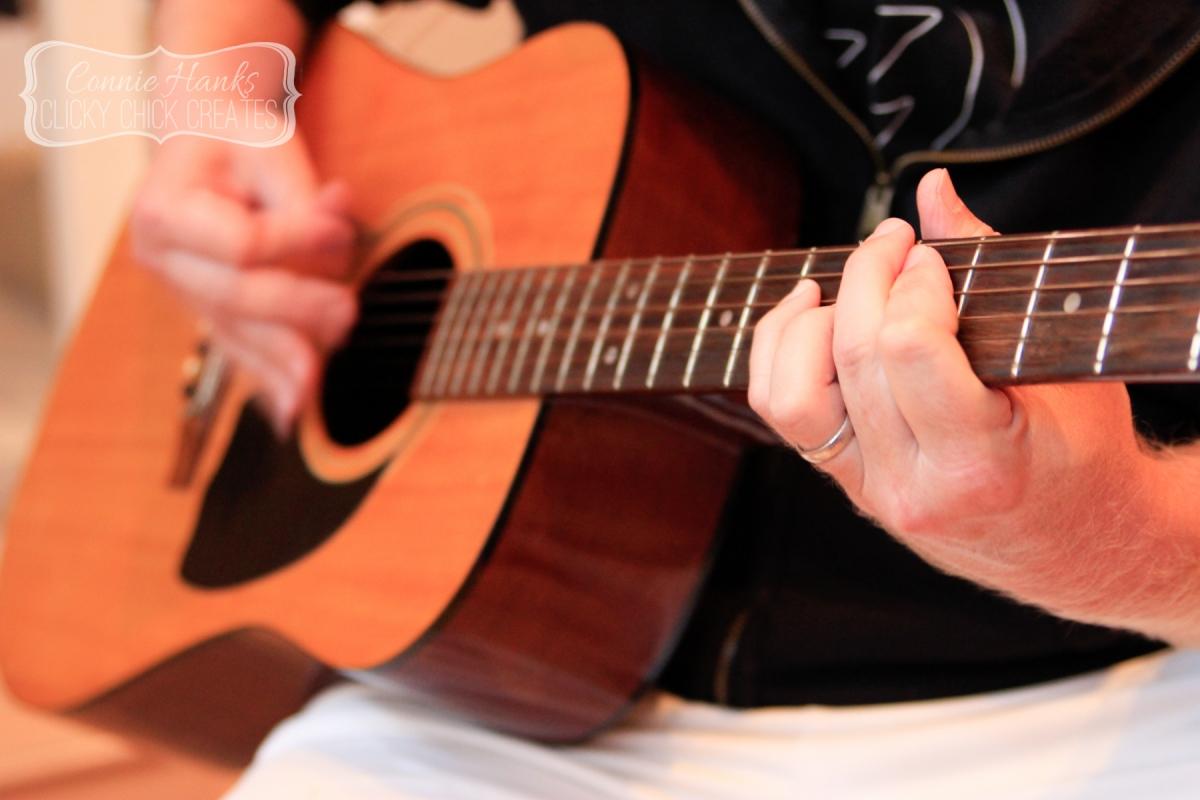 Connie Hanks // ClickyChickCreates.com // vintage Hohner guitar