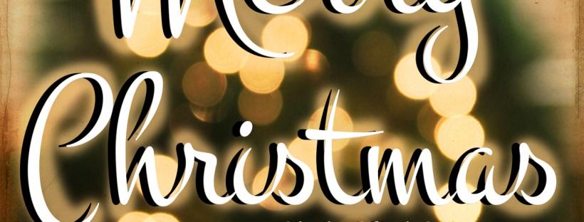 Connie Hanks Photography // ClickyChickCreates.com // Merry Christmas, tree, bokeh