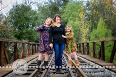 Connie Hanks Photography // ClickyChickCreates.com // family photos, mother, daughters, trio, trains, rustic, park, sisters, love, laughter