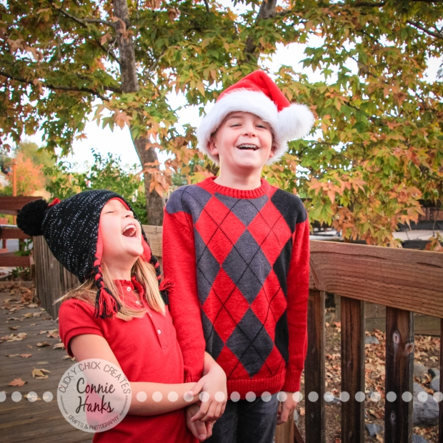 Connie Hanks Photography // ClickyChickCreates.com // family photos, kids, siblings, hats, trains, rustic, park, love, laughter