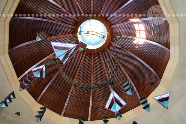 Connie Hanks Photography // ClickyChickCreates.com // dome of church from inside