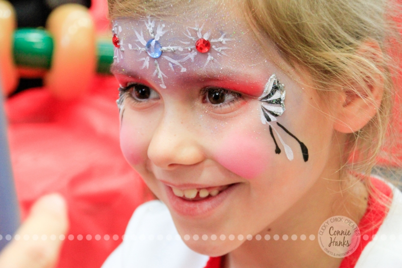 Connie Hanks Photography // ClickyChickCreates.com // JOY in the face of a 7-year old getting her face painted!