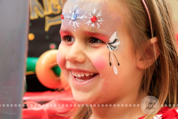 Connie Hanks Photography // ClickyChickCreates.com // JOY in the face of a 4-year old getting her face painted!