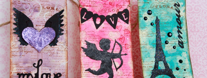 Connie Hanks Photography // ClickyChickCreates.com // My Love, Cupid Love and Amour Eiffel Tower Valentine Tags, handmade