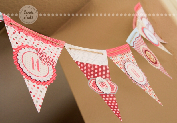 Connie Hanks Photography // ClickyChickCreates.com // Valentine banner, handmade