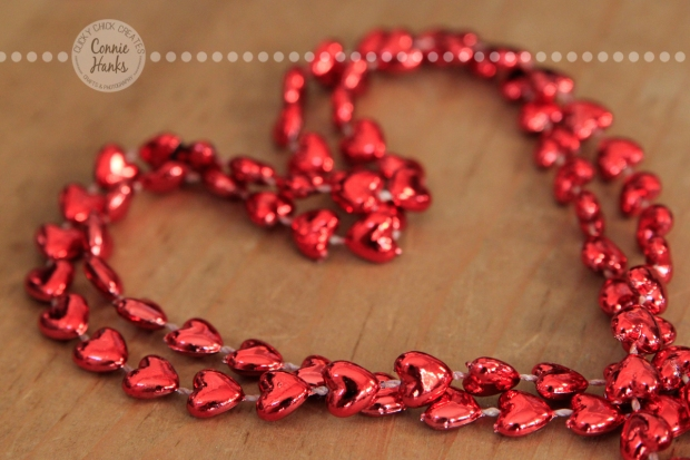 Connie Hanks Photography // ClickyChickCreates.com // heart beads necklace, heart shaped