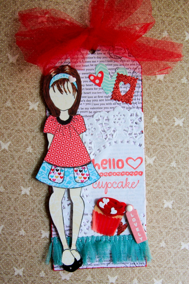 Connie Hanks Photography // ClickyChickCreates.com // adorable Valentine Tag handmade by Simmone D. for ScrapHappy swap