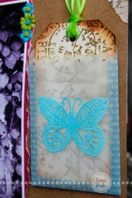 Connie Hanks Photography // ClickyChickCreates.com // stamped and embossed butterfly on vellum envelope