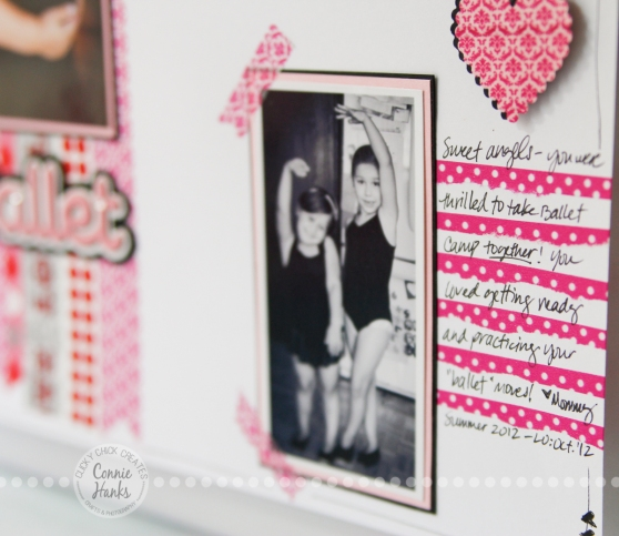 Connie Hanks Photography // ClickyChickCreates.com // Washi Tape background paper and journaling lines