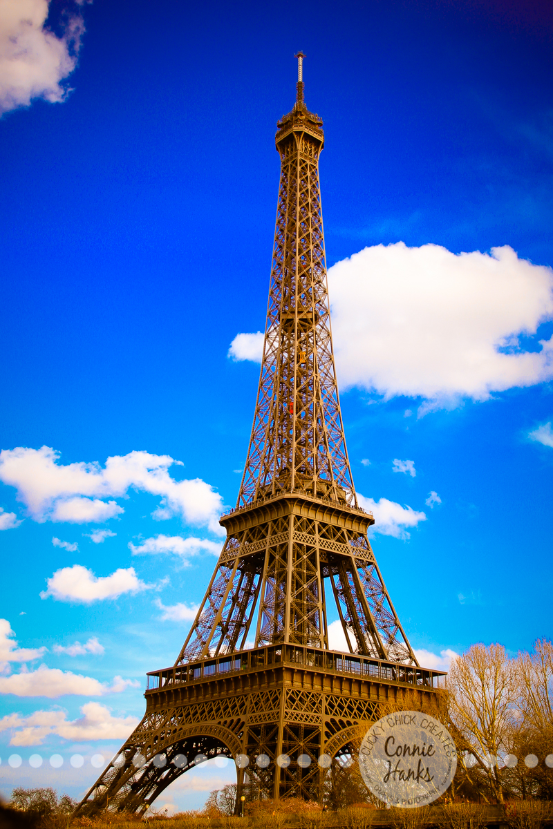 Connie Hanks Photography // ClickyChickCreates.com // Eiffel Tower On A  Beautiful Spring