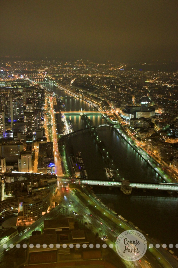 Connie Hanks Photography // ClickyChickCreates.com // view of Paris from top of Eiffel Tower