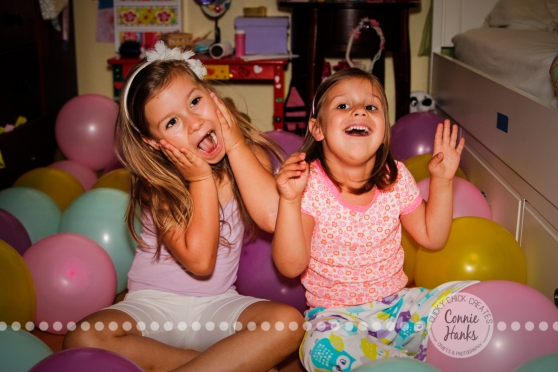 Connie Hanks Photography // ClickyChickCreates.com // Silly birthday balloon princess