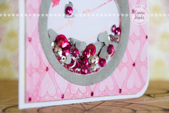 Connie Hanks Photography // ClickyChickCreates.com // Engagement or Wedding Ring Shaker Card with how-to process video!