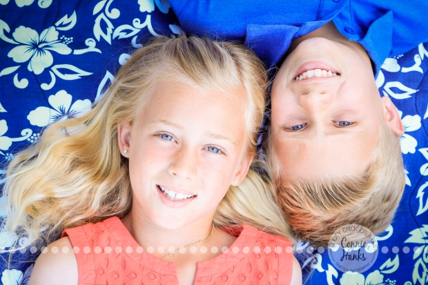 Connie Hanks Photography // ClickyChickCreates.com // Siblings, photos, pre-tween, Balboa Park, spring, peach, blue