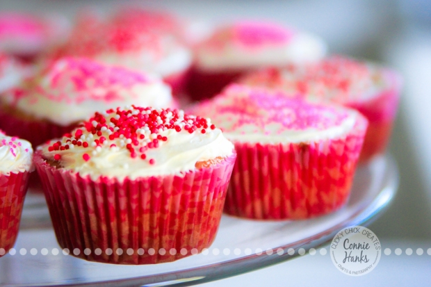 Connie Hanks Photography // ClickyChickCreates.com // red, pink, white cupcakes