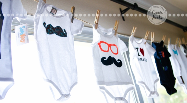 ClickyChickCreates.com // mustache baby shower treats and decorations