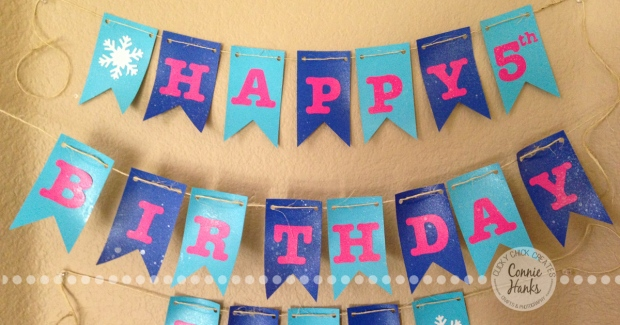 ClickyChickCreates.com // Homemade FROZEN birthday banner