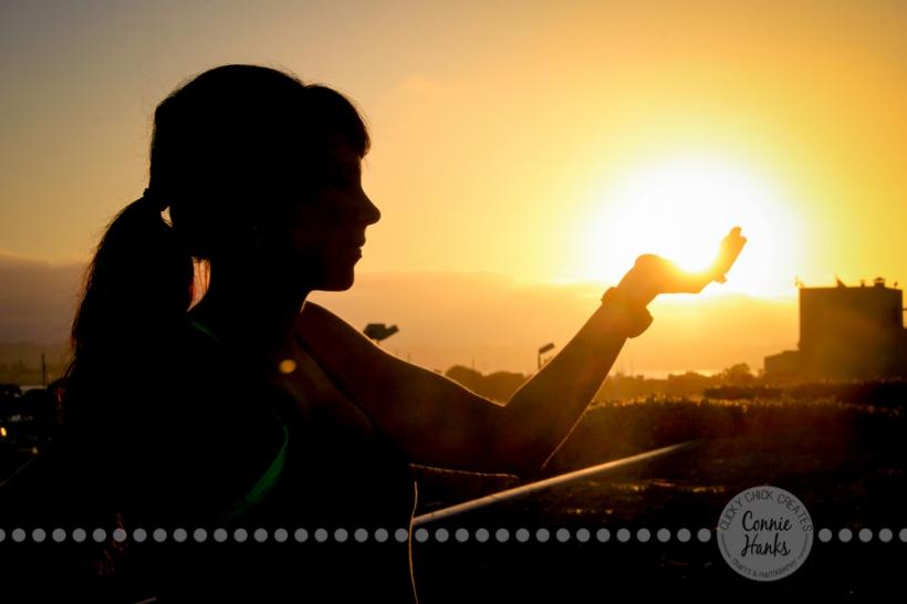 Connie Hanks Photography // ClickyChickCreates.com // handful of sunshine, silhouette