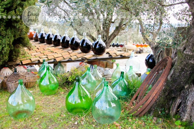 Connie Hanks Photography // ClickyChickCreates.com // wine containers in the South of France