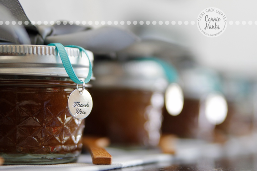 Connie Hanks Photography // ClickyChickCreates.com // body scrub containers at a baby shower