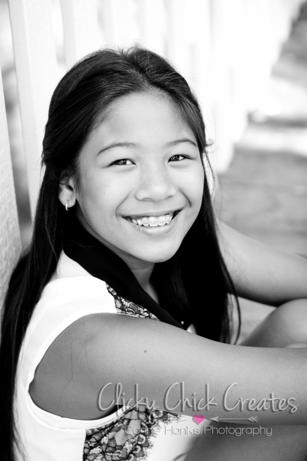 Connie Hanks Photography // ClickyChickCreates.com // Tween head shots, photos, child, fresh, faced, sweet, innocent