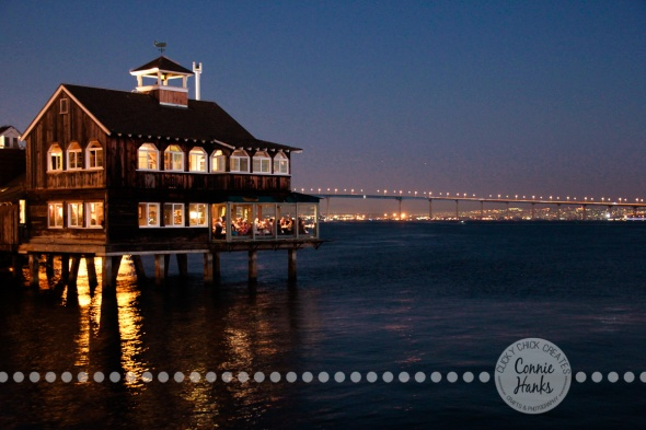 Connie Hanks Photography // ClickyChickCreates.com // Seaport Village San Diego nighttime photography