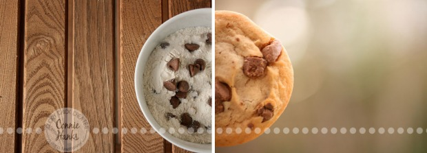 Connie Hanks Photography // ClickyChickCreates.com // Diptych - Craving Cookies!