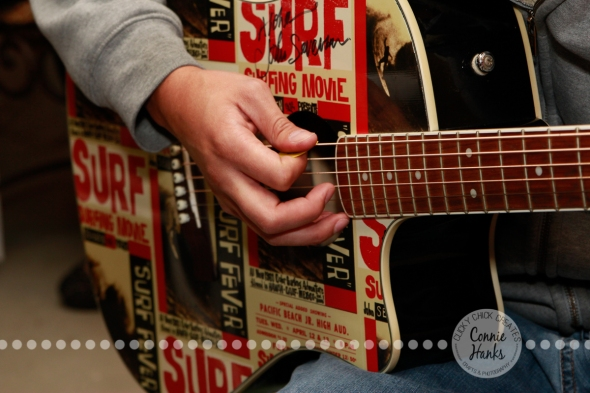 Connie Hanks Photography // ClickyChickCreates.com // cover art, guitar, surf, strumming, picking, music, musician