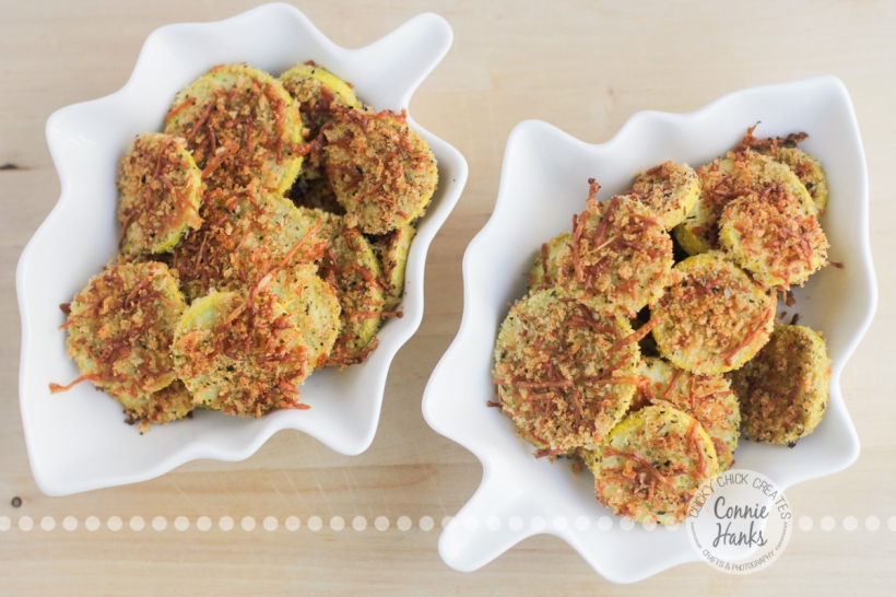 Connie Hanks Photography // ClickyChickCreates.com // Garlic Parmesan Yellow Squash Chips