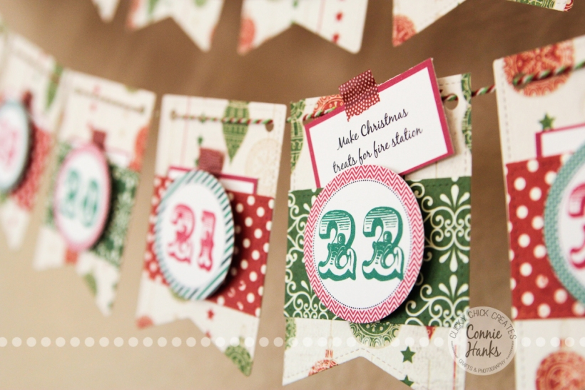 Connie Hanks Photography // ClickyChickCreates.com // Advent calendar, Christmas, Etsy, activity, experience, family, Carta Bella, paper crafting