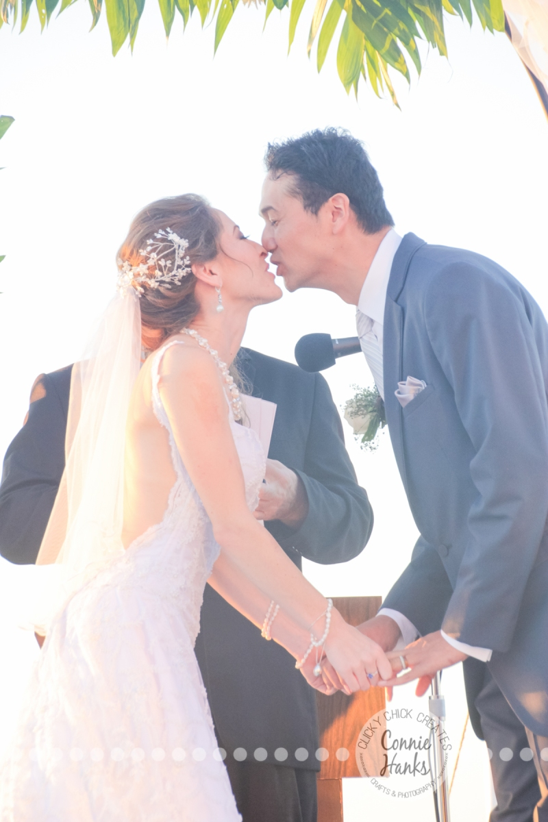 Connie Hanks Photography // ClickyChickCreates.com // Baja wedding, pink, turquoise, head wreath, cake, roses, lanterns, toast, kids, flower girls, ring bearers,