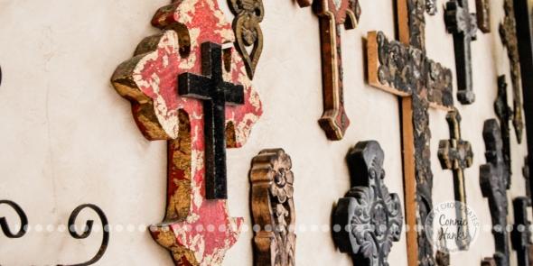 Connie Hanks Photography // ClickyChickCreates.com // Wall of Crosses, Villa, Rosarito