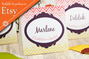 Connie Hanks Photography // ClickyChickCreates.com // Thanksgiving, place cards, hostess gift, gift tags, gratitude, Etsy, custom, printable, pdf