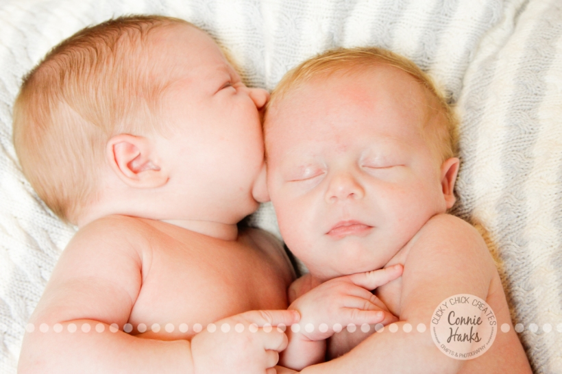 Connie Hanks Photography // ClickyChickCreates.com // One month old twin boys